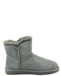 7cb64bbbe45 UGG Shoes Australia Mini Bailey Button Bling Boots 1003889 Grey New ...