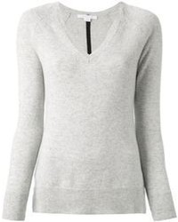 Grey v neck sweater original 1325319