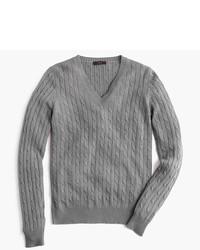 J.Crew Cambridge Cable V Neck Sweater
