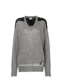 Prada Colour Block Knitted Sweater