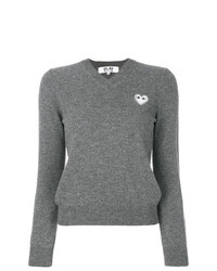 Comme Des Garcons Play Comme Des Garons Play Knitted Heart Logo Sweater