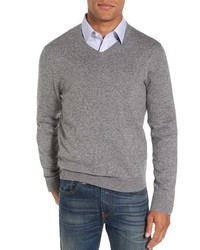 Nordstrom Men's Shop Cotton Cashmere V Neck Sweater