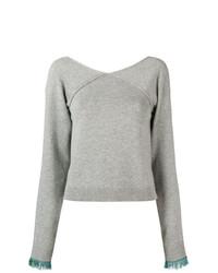 Chloé Cropped V Neck Sweater