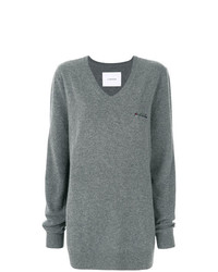 PushBUTTON Embroidered Detail Jumper