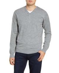 Peter Millar Excursionist Flex V Neck Wool Blend Sweater