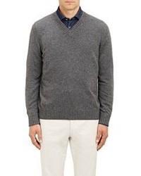 Fioroni Cashmere V Neck Sweater Grey Size S