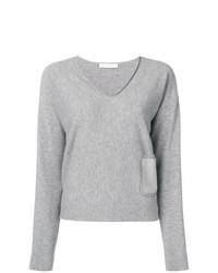 Fabiana Filippi Front Pocket V Neck Sweater