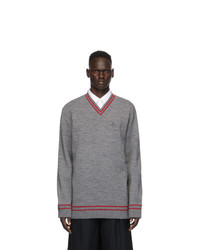 Maison Margiela Grey Gauge 12 Knit Sweater
