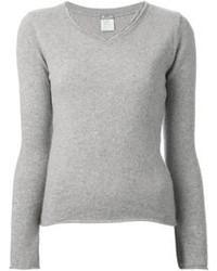 Kristensen Du Nord Raw Edged V Neck Sweater