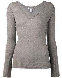 Autumn Cashmere Raw V Neck Sweater