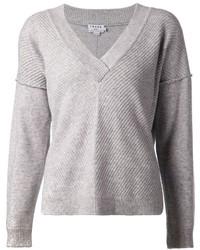 Frame Denim Ribbed Knit Sweater