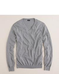 Slim cotton cashmere v neck sweater medium 2688