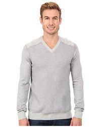 Calvin Klein Jeans Texture Stitch V Neck Sweater