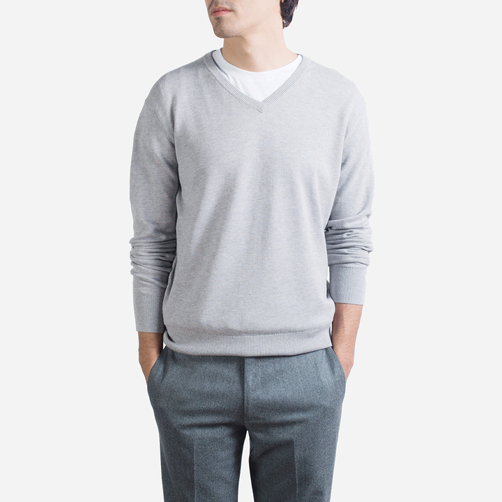 The Cotton Cashmere V Neck