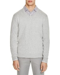 The Store At Bloomingdales V Neck Cotton Cashmere Sweater 100%
