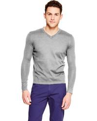 DKNY V Neck Cotton Sweater