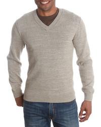 Lucky Brand V Neck Cotton Sweater