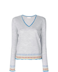Peter Pilotto V Neck Embroidered Sweater