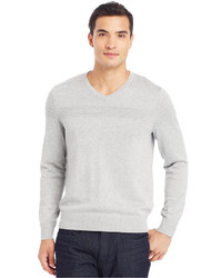 Kenneth Cole Reaction V Neck Textured Sweater