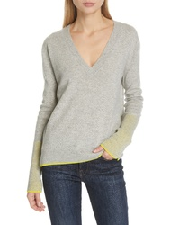 LA LIGNE Wool Cashmere V Neck Sweater
