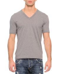 Dolce & Gabbana Basic V Neck T Shirt Gray