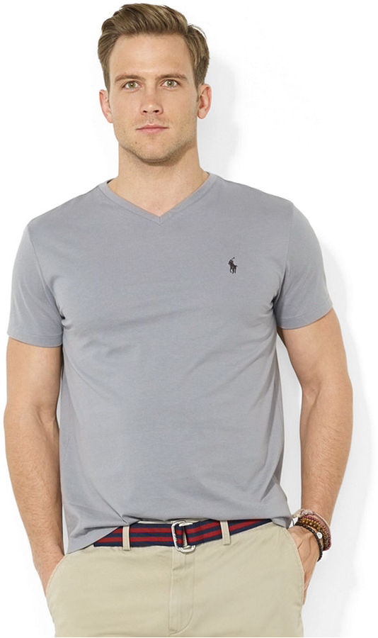 b79271bf1fb70 ... Polo Ralph Lauren Core Medium Fit V Neck Cotton Jersey T Shirt ...