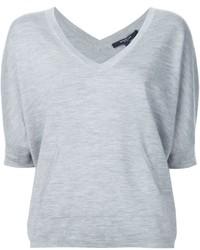 Derek Lam Knitted V Neck T Shirt
