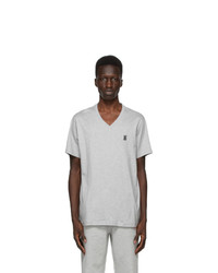 Burberry Grey Marlet V Neck T Shirt