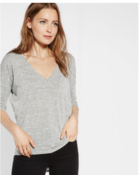 Express One Eleven Marled V Neck London Tee
