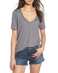 Raw Edge V Neck Tee