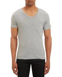 Todd Snyder Recycled V Neck Short Sleeve T Shirt