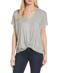 Twist front v neck tee medium 4952349