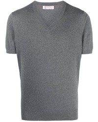 Brunello Cucinelli V Neck Short Sleeved T Shirt