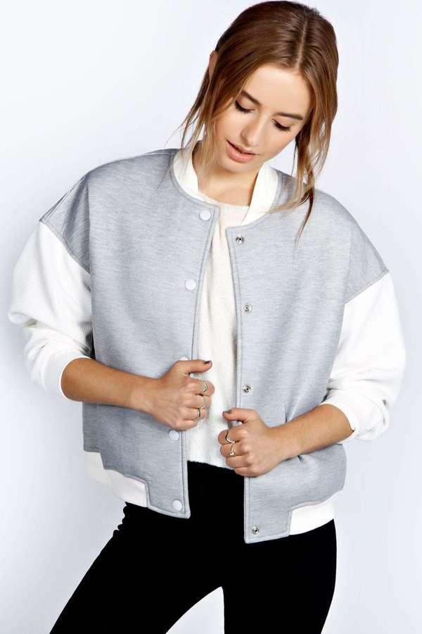 Boohoo Tarah Neoprene Bomber Jacket   Where to buy & how to wear