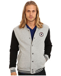 Converse Core Fleece Baseball Jacket