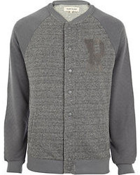 River Island Grey R Baseball Jacket