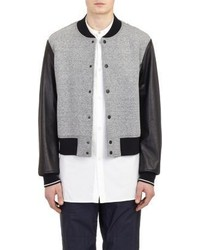 Rag and Bone Rag Bone Leather Sleeve Varsity Jacket
