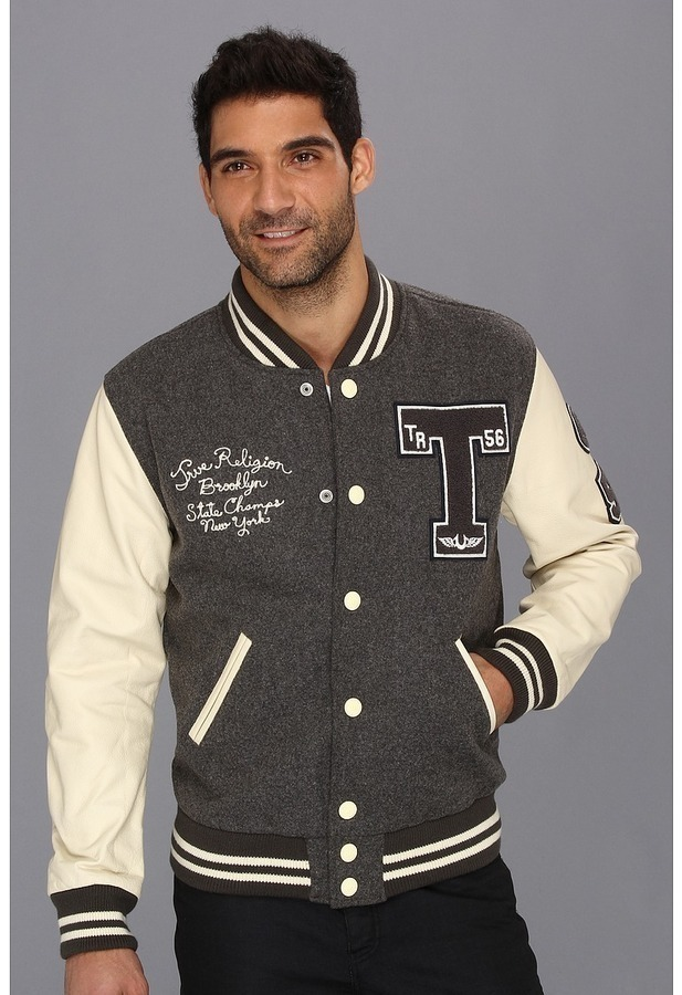 True Religion Richie Varsity Letterman Jacket Apparel