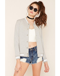 Forever 21 Snap Buttoned Varsity Jacket