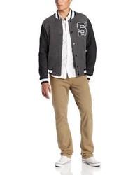 Southpole Baseball Fleece Varsity Jacket With S Logo