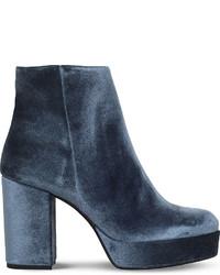 Carvela Sweden Velvet Ankle Boots
