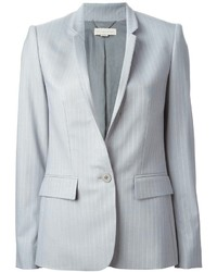 Grey Vertical Striped Blazer