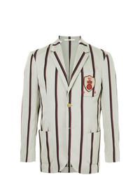 Kent & Curwen Crest Detail Striped Blazer