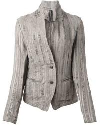 Giorgio brato distressed stripe blazer medium 326322