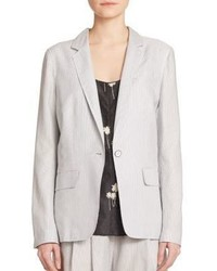 Rag bone chatham striped silk cotton blazer medium 326320