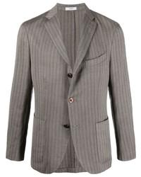 Boglioli Striped Single Breasted Blazer