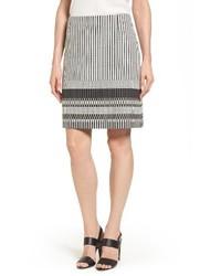 BOSS Vemala Stripe Boucle Suit Skirt