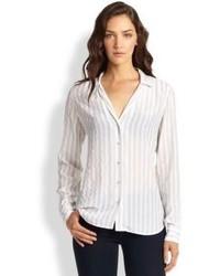 Adalyn silk striped shirt medium 104239