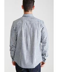 baea7836b18 ... Forever 21 Striped Chambray Button Down Shirt ...