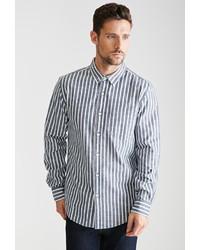 Striped chambray button down shirt medium 321652